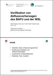 Verifikation von Abflussvorhersagen des BAFU und der WSL - CHy