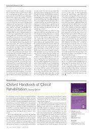 Oxford Handbook of Clinical Rehabilitation Second Edition - ACNR