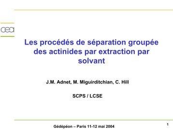 Les procédés de séparation groupée des actinides par extraction ...
