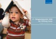Tätigkeitsbericht 2008/2009 - Stiftung Lesen