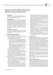 Allgemeine Geschäftsbedingungen Mobilfunk (Geschäftskunden).