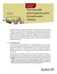 Une nouvelle préoccupation pour la biodiversité urbaine - Affaires ...