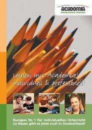 Lernen mit Acadomia! Individuell & professionell! Lernen mit ...