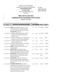 Price List No Bcd 3212 Common Office Equipment On Ps