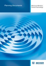 Wireless Technology - Becker-Antriebe