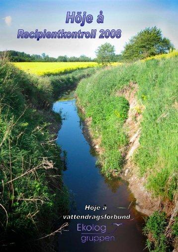 Årsrapport för 2008 - Höje å vattenråd