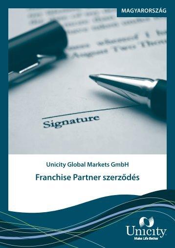 Franchise Partner szerződés - Unicity