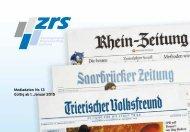 ZRS Kombi - Mediadaten Nr. 13 Gültig ab 1. Januar 2015