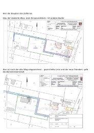 Hier der Bauplan des Zeltkinos blau der geplante Weg; grün ...