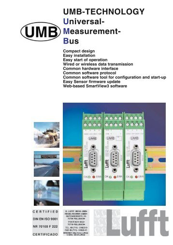 UMB-TECHNOLOGY Universal- Measurement- Bus - Barber-Insys