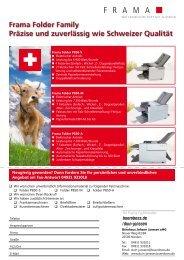 Frama Folder Family Präzise und zuverlässig wie Schweizer Qualität