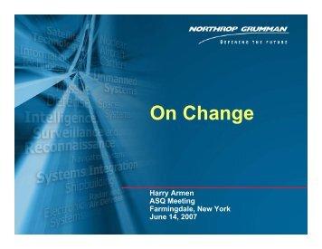 Presentation by Harry Armen - ASQ Long Island Section