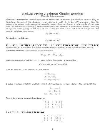 Homework help balancing equations