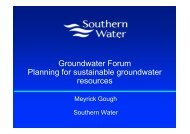 Water company case study II - The UK Groundwater Forum