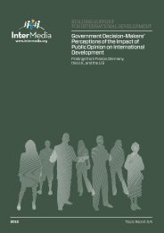Government Decision-Makers' Perceptions of the ... - AudienceScapes
