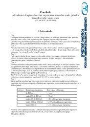 Pravilnik o kvalitetu i drugim zahtevima za prirodnu ... - CINS
