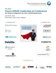 Future ASEAN Leadership un-Conference - The Conference Board