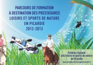 Parcours de formation des prestataires Loisirs et ... - CROS Picardie
