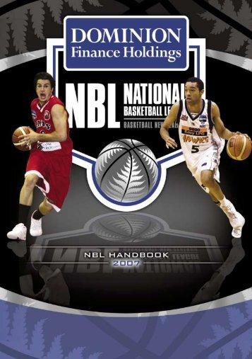 2007 Dominion Finance NBL Handbook - Basketball New Zealand
