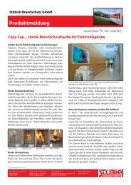 Stöbich Brandschutz GmbH Produktmeldung Copy-Cap ... textile ...