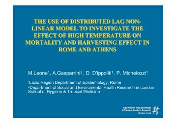 the use of distributed lag non- linear model to investigate the effect ...