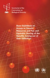 Bonn Guidelines on access to genetic resources and fair and ...