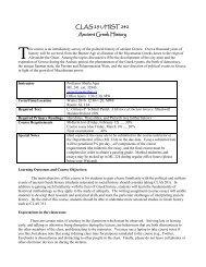 CLAS 251/HIST 242 Ancient Greek History - Mister Dans Home Page