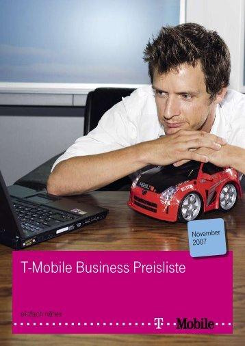T-Mobile Business Preisliste