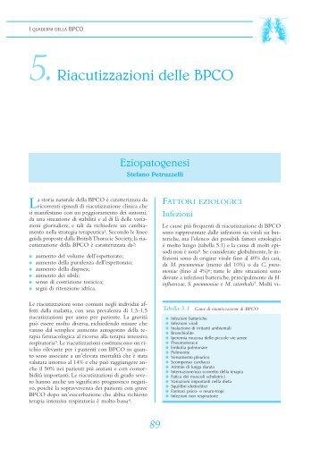 5.Riacutizzazioni delle BPCO - Clinica malattie apparato respiratorio