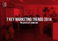 7 key MARKETING Trends 2014