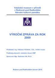 Výroční zpráva za rok 2009 - Valašské muzeum v přírodě