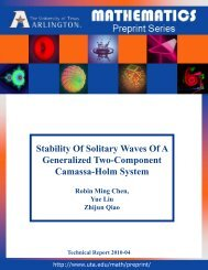 Stability Of Solitary Waves Of A Generalized Two-Component ...