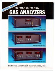 California Analytical Instruments, Inc.