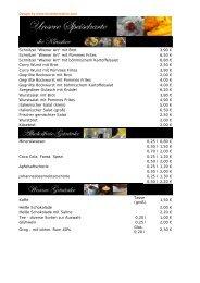 Sie können unsere Speisekarte auch als pdf-Datei