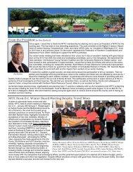 Spring 2011 Newsletter - National Family Farm Coalition