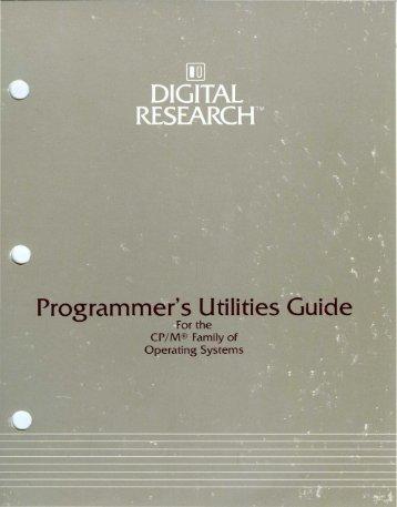 Programmer's Utilities Guide - bitsavers.org