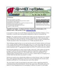Vegetable Crop Update - Integrated Pest and Crop Management