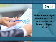 Global Hemodialysis Bloodline Systems Market, Size, Trends, 2014