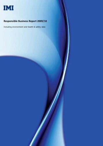 Responsible Business Report 2009/10 - IMI plc