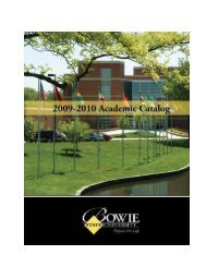 2009-2010 - Bowie State University