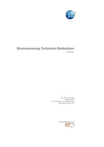 Leitfaden Mustersanierung: Technische Maßnahmen