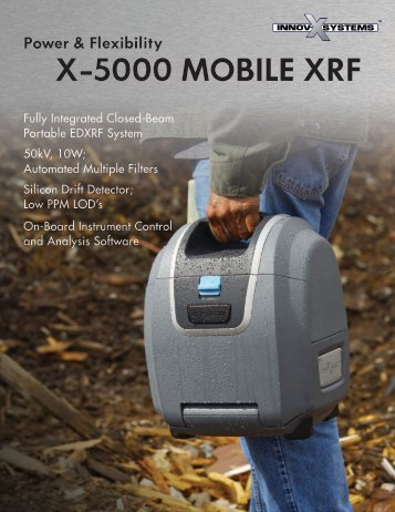 X-5000 Mobile XRF - Power & Flexibility - Epsilon NDT