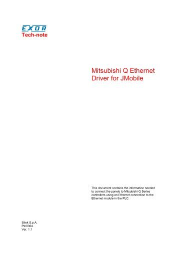 Mitsubishi Q Ethernet Driver for JMobile