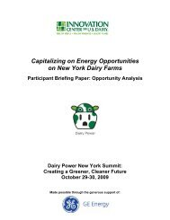 Capitalizing on Energy Opportunities on New York Dairy Farms