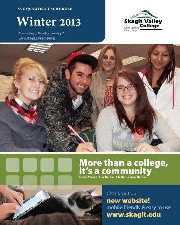 Winter 2013 - Skagit Valley College