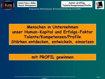 Mit Profil gewinnen - Sternstunde für Unternehmer