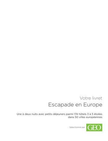 Escapade en Europe - E-Merchant