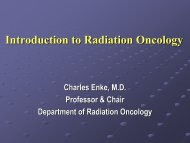Introduction to Radiation Oncology