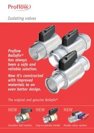 Proflow Ballofix Isolating Valves