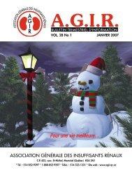 Janvier 2007 - Association générale des insuffisants rénaux
